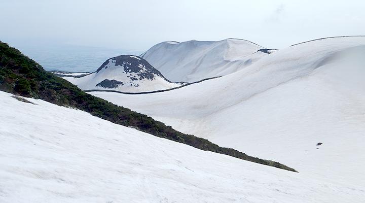山スキー 東北鳥海山