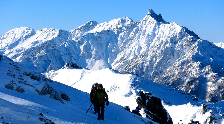 雪山登山 北アルプス 燕岳