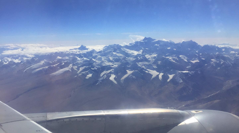 飛行機からヒマラヤ