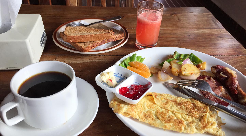 ネパール ポカラ 朝食