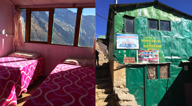 ネパール モンラ ロッジ