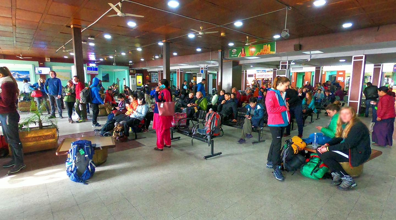 ネパール カトマンズ 国内線空港
