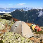 北岳肩の小屋 テント場