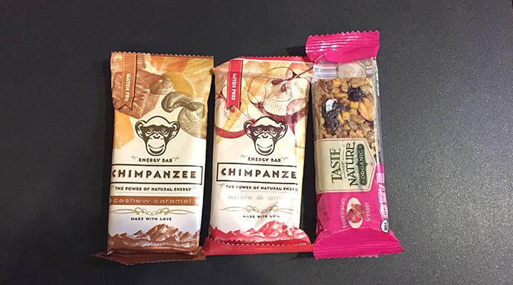 CHIMPANZEE ナチュラルエナジーバーとTaste of Nature オーガニックフルーツ&ナッツバー
