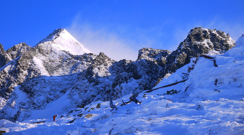 年末年始 雪山登山 西穂高岳