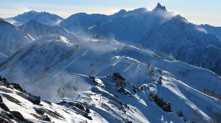 冬山登山 北アルプス 燕岳