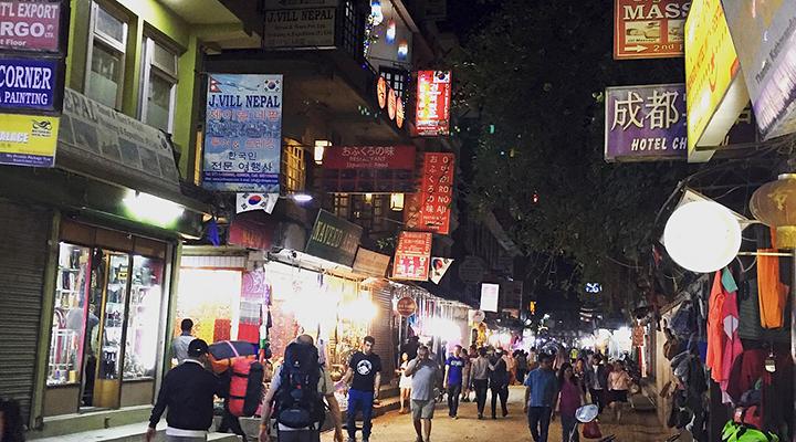 ネパール カトマンズ タメル地区 夜