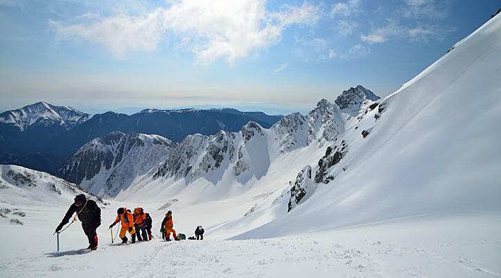 ゴールデンウィーク雪山登山 北アルプス涸沢