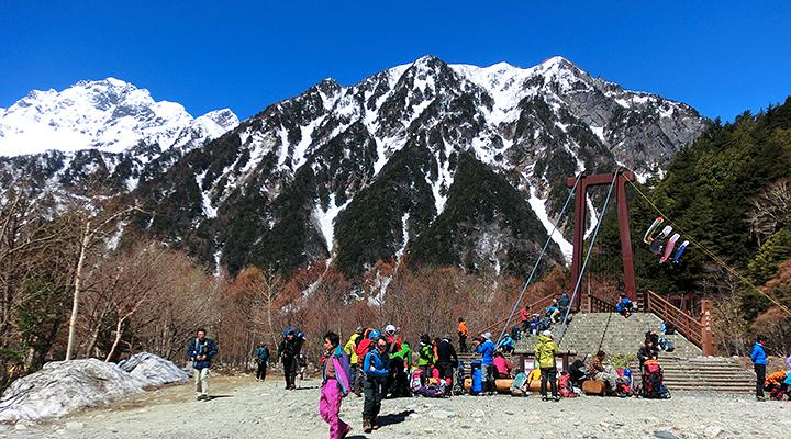 ゴールデンウィーク雪山登山 横尾