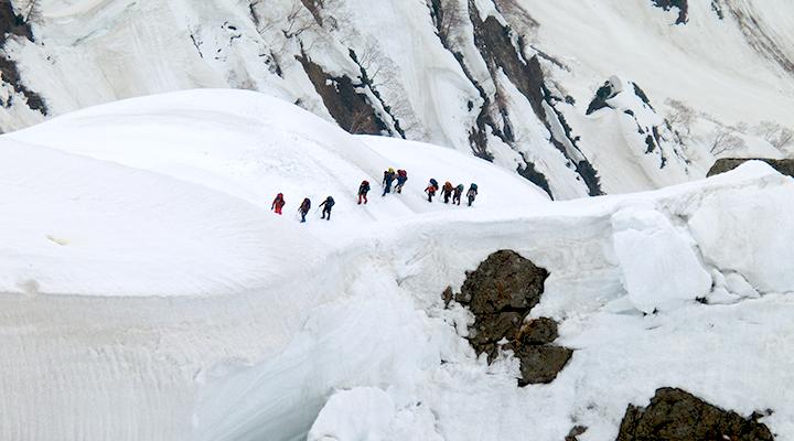 ゴールデンウィーク雪山登山 北アルプス白馬岳