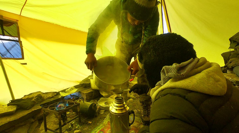 メラピーク ハイキャンプ