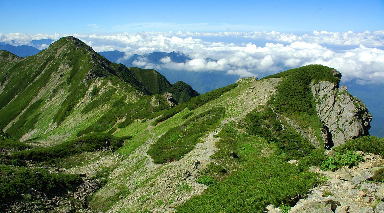 夏山登山 南アルプス 仙丈ヶ岳