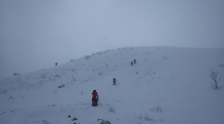 年末年始 雪山登山 南アルプス 仙丈ヶ岳