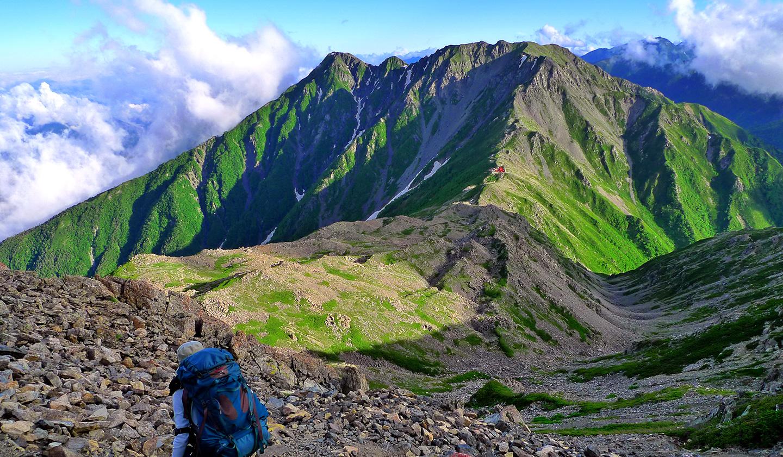 南アルプス 白峰三山 夏山登山