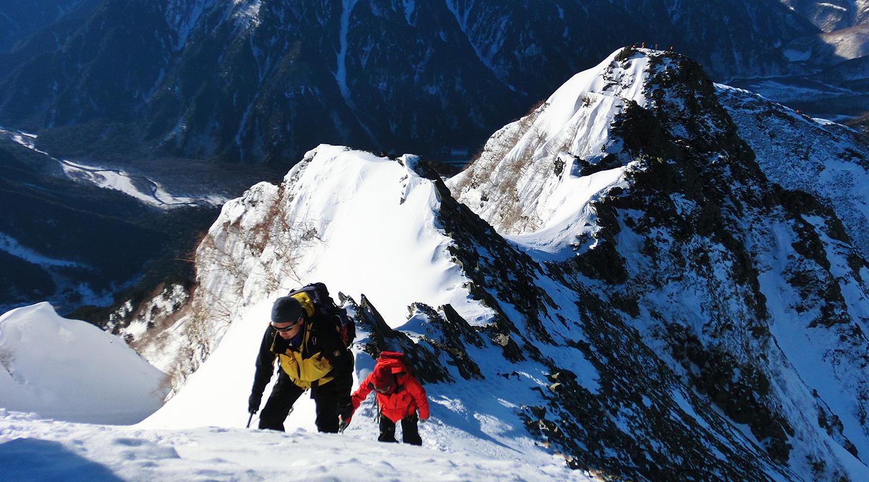 北アルプス 西穂高岳 厳冬期雪山登山