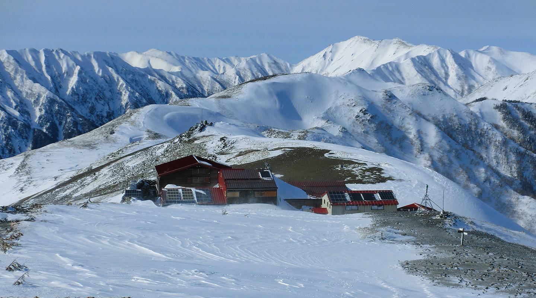 厳冬期 山小屋
