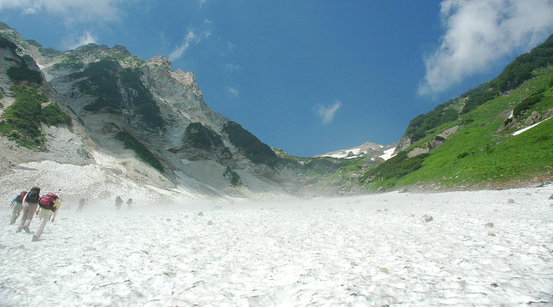 北アルプス 白馬岳 大雪渓