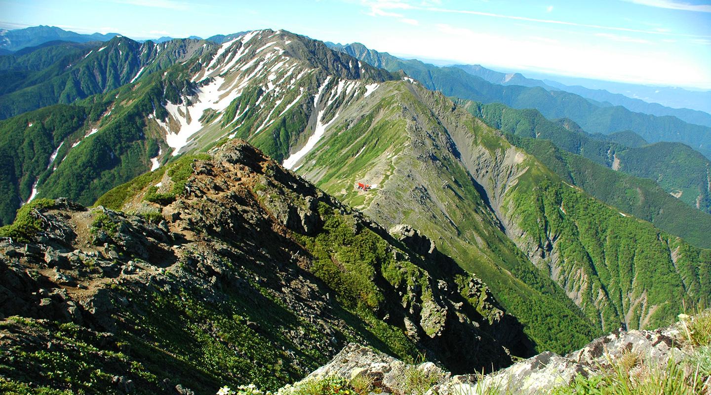 夏山登山 南アルプス 白峰三山テント泊縦走