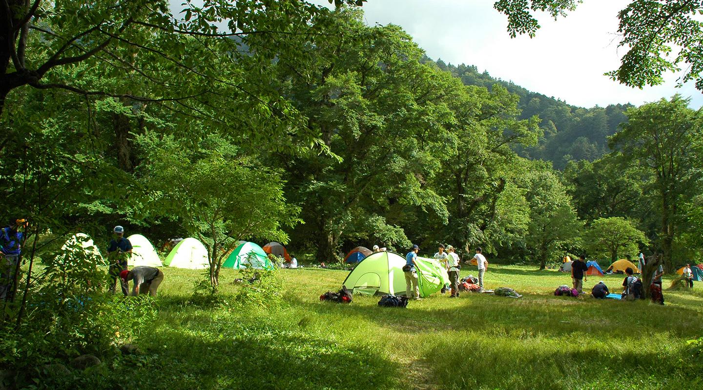 上高地 徳沢 キャンプ場