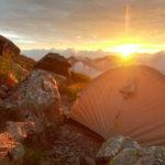 南アルプス 北岳 肩の小屋 テント場 ご来光