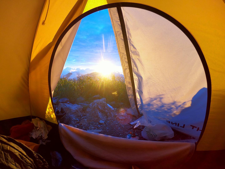 南アルプス 北岳 肩の小屋 テント場