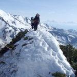 ゴールデンウィーク 雪山登山 北アルプス 杓子岳