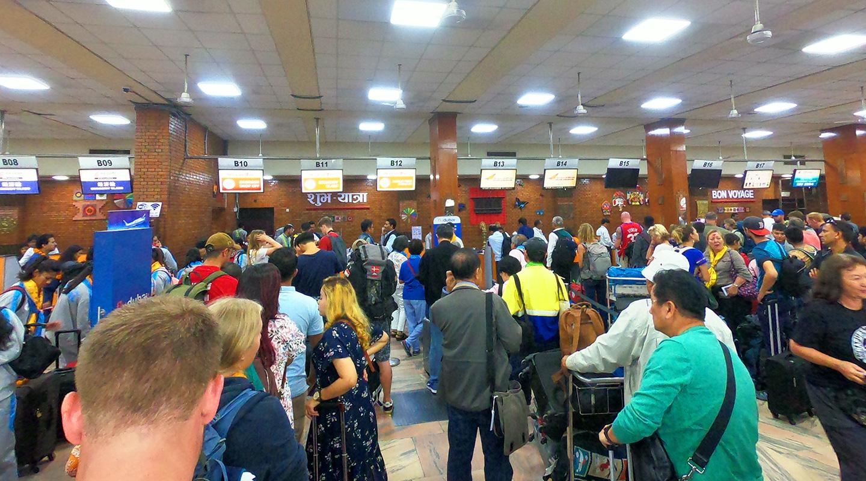 ネパール カトマンズ トリブバン空港
