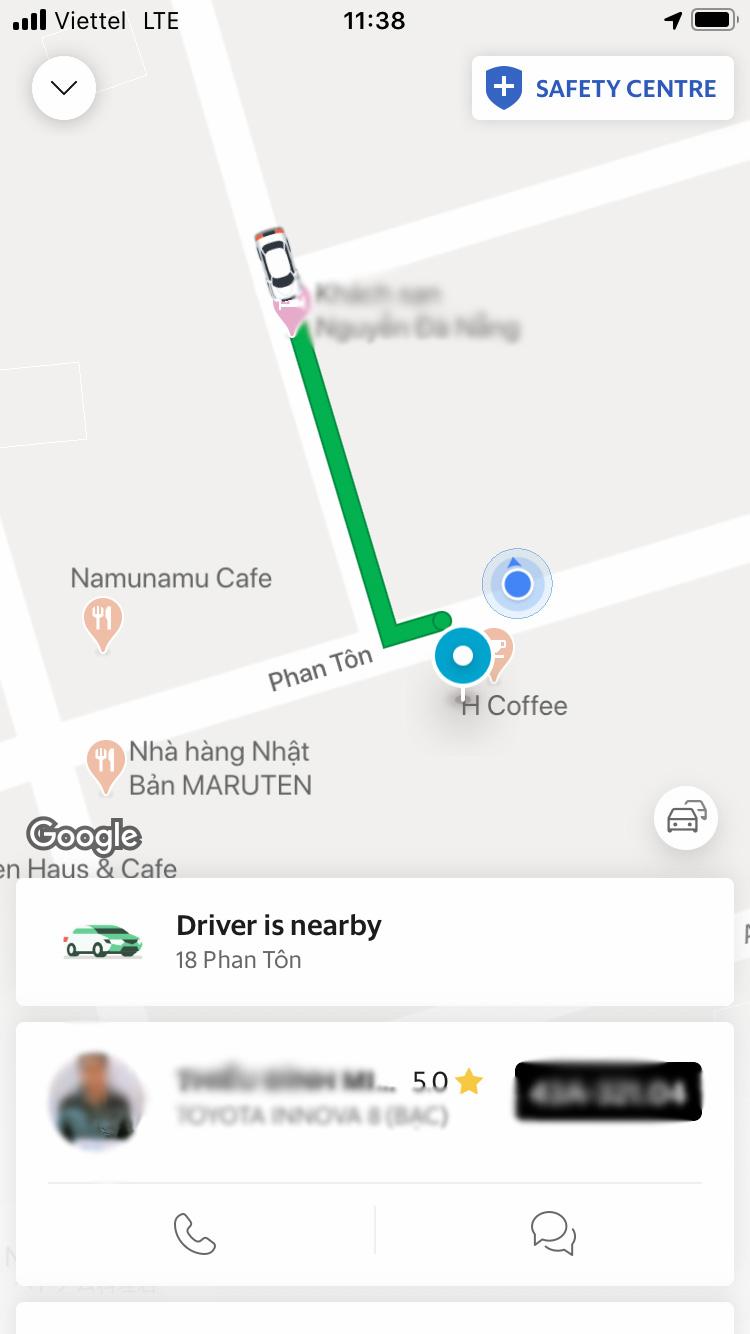 grab タクシー 使い方