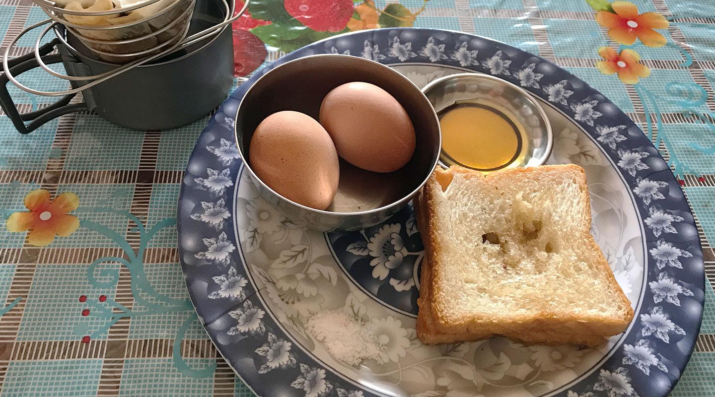 ネパール 朝食