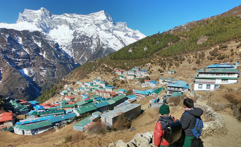 ネパール エベレスト街道 ナムチェ
