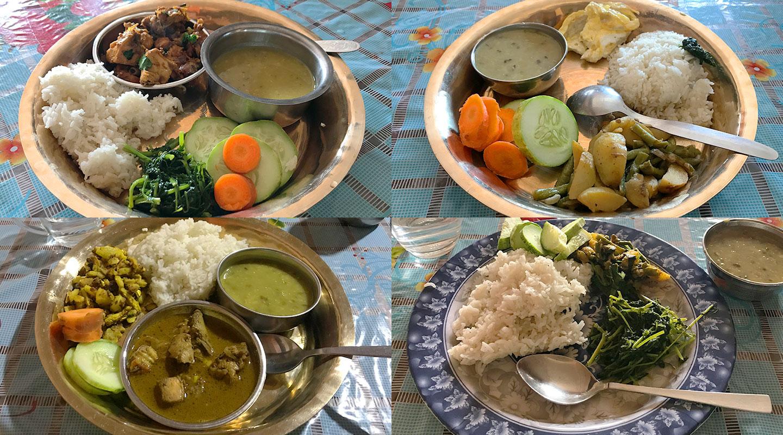 ネパール 食事 ダルバート