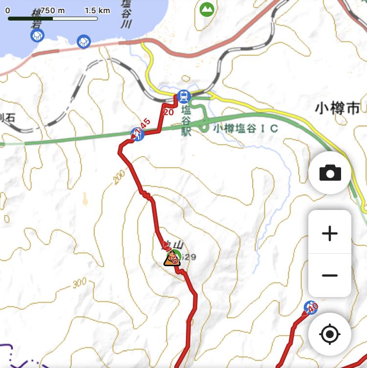塩谷丸山 地図