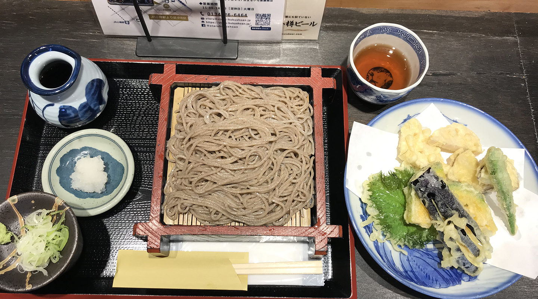 北海道小樽市 グルメ 蕎麦 天ぷら
